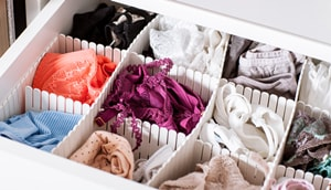 colorful underwear in the drawer