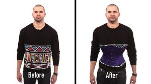 Man wearing corsets results before and after