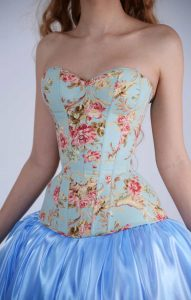 Woman in beautiful overbust corset.