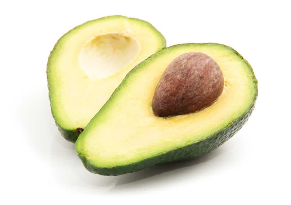 Avocado isolated on white.