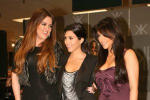 "CERRITOS, CA - SEPTEMBER 18: The Kardashian sisters arrive at the Sears in Cerritos Mall for the launch of their brand new clothing line, ""Kardashian Kollection"" in Cerritos, CA on September 18, 2011."