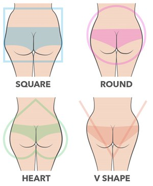 Four types of booty on the white background