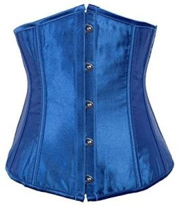 Blue Alivila.Y Underbust Waist Training Corset on the white.