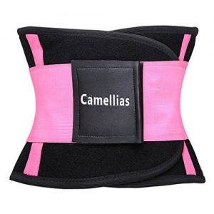 Camellias Waist Trainer Belt on white background.