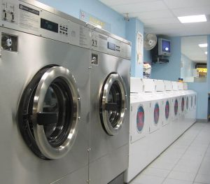 Washing machine in laundromat
