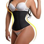 Waist trainer corset showing on a good shape woman.