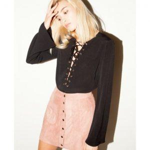 Black blouse corset top