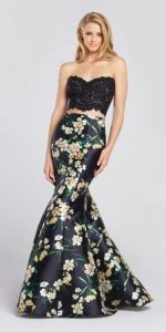Black corset prom dress