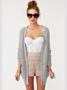 Lace corset top with outfit