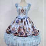 Blue Lolita fashion corset dress