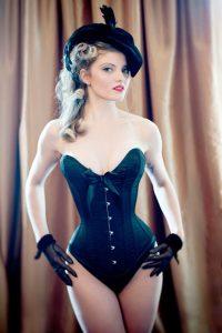 Classic black overbust corset
