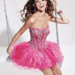 Pink short corset dress