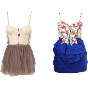 Corset top with skirts