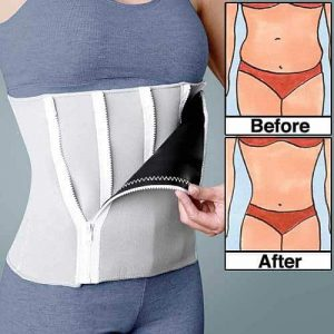 Slimming belt before and after