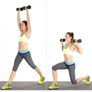 Circuit Two Split Squat Overhead Press
