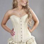 Classic cotton steel boning corset dress