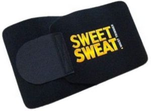 Sweet Sweat waist trimmer belt isolated on the white.