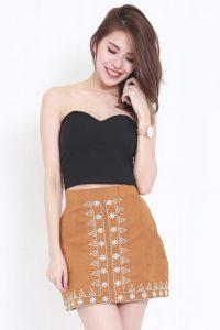 Black tube corset top
