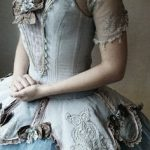 Victorian-inspired couture corset dress