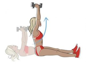 Weighted sit up exercise cartoon
