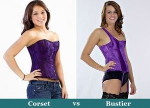Purple corset and bustier